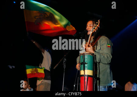May 11, 2007 - New York, NY, USA - STEPHEN MARLEY and brother Damian Marley performing at The Nokia Theater. (Credit - Stock Photo
