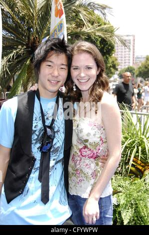 June 2, 2007 - Hollywood, California, U.S. - LOS ANGELES, CA JUNE 02, 2007 (SSI) - -.Actor Aaron Yoo and Sarah during - Stock Photo