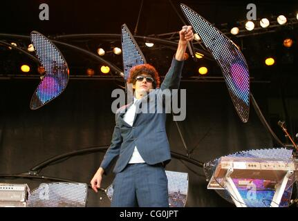 Jul 04, 2007 - Stockholm, SWEDEN - MICHAEL DIAMOND (Mike D) as musicians the 'Beastie Boys' perform live in concert - Stock Photo