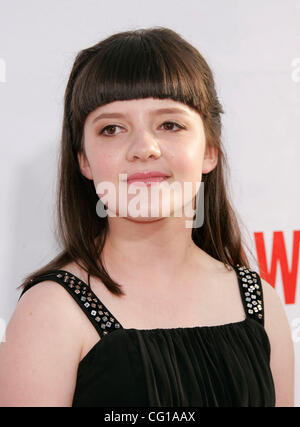 Aug 1, 2007 - Hollywood, California, USA - Actress MADELEINE MARTIN at the Premiere of Showtime's 'Weeds' and 'Californication' - Stock Photo