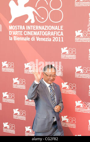 Sept. 9, 2011 - Venice, Italy - director Johnnie To during photocall before premiere of 'Duo Mingjin' movie directed - Stock Photo