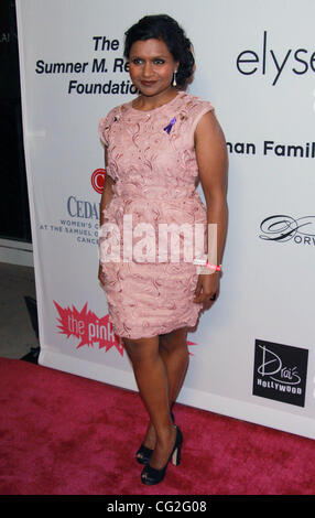 Sept. 11, 2011 - Los Angeles, California, U.S. - Mindy Kaling.Pink Party 2011 - Arrivals - held at Drai's Hollywood - Stock Photo