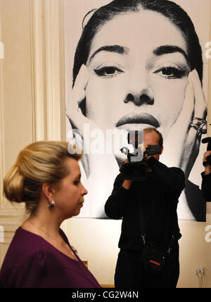 October 26,2011. St.Petersburg,Russia.Maria Callas Forever Exhibition dedicated to legendary opera singer Maria - Stock Photo