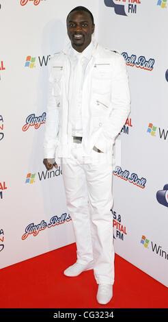 Akon attending the Capital FM Jingle Bell Ball, o2 Arena London, England - 05.12.10 - Stock Photo
