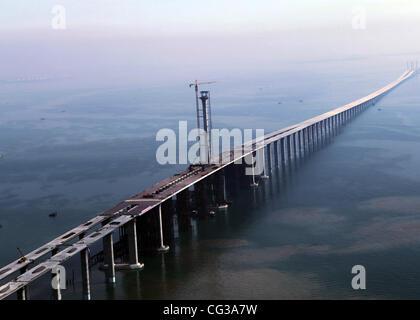 Longest Sea Bridge The Qingdao Haiwan Bridge Was Completed