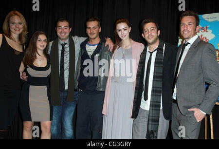 Erica Leerhsen, Producer Sarah Annah Bigle, director Sam Wasserman, Steve Talley, Madeline Zima and Adam Rose 'First - Stock Photo