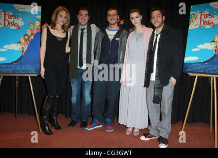 Erica Leerhsen, Steve Talley, Madeline Zima and Adam Rose 'First Date' premiere screening held at The American Film - Stock Photo