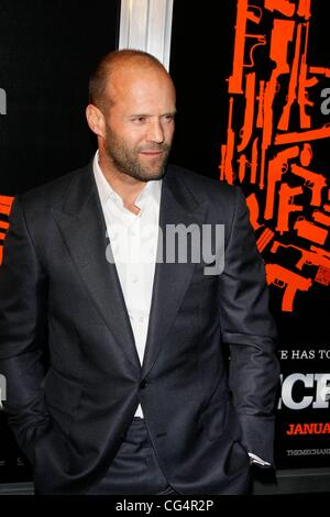 Jason Statham The Los Angeles Premiere of 'The Mechanic' held at ArcLight Cinemas - Arrivals  Los Angeles, California - Stock Photo