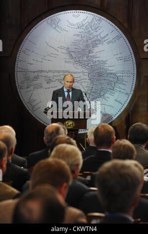 April 10, 2012 - St. Petersburg, Russia - St.Petersburg,Russia. Pictured: Russia's President Vladimir Putin addresses - Stock Photo
