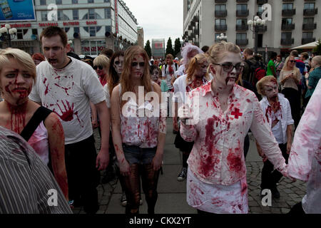 Zombies at Stockholm Zombie Walk 2012 - Stock Photo