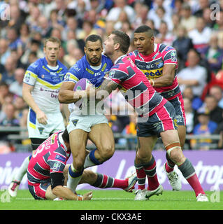 25th Aug 2012. Leeds Rhinos v Warrington Wolves  Carnegie Challenge Cup Final 2012 Warrington Wolves Ryan Atkins - Stock Photo