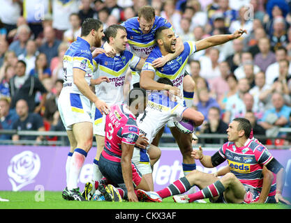 25th Aug 2012. Leeds Rhinos v Warrington Wolves  Carnegie Challenge Cup Final 2012 Warrington players L-R:  Tyrone - Stock Photo