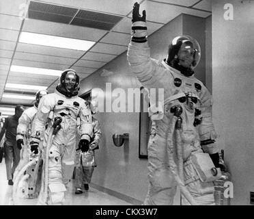 June 7, 1969 - Merritt Island, FL, U.S. - The Crew Members of Apollo 11 seen as they leave the Space Center ready - Stock Photo