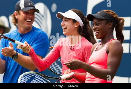 25th Aug 2012. Flushing Meadows, NY USA.  ATP U.S. Open 2012 New York City New York USA  womens World Tour  Training - Stock Photo