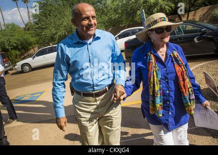 Aug. 29, 2012 - Paradise Valley, Arizona, U.S - Dr. RICHARD CARMONA, Democratic candidate for US Senate from Arizona, - Stock Photo