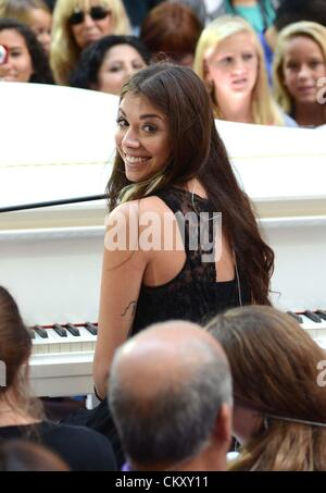 New York, USA. 31st Aug 2012. Christina Perri on stage for NBC Today Show Summer Concert Series with Jason Mraz - Stock Photo