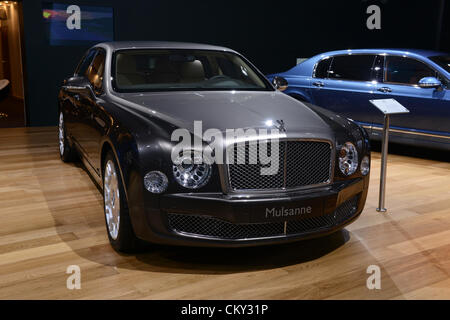 MOSCOW, RUSSIA - August 31: Moscow International Automobile Salon 2012. Bentley Mulsanne - Stock Photo