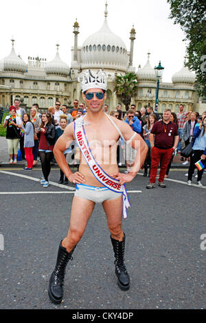 Brighton, UK. 1st September 2012. Marchers in the Brighton Gay Pride Parade 2012 in Brighton, England - Stock Photo