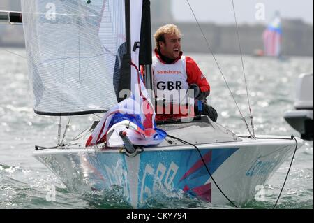 London 2012 Paralympics: Sailing Scud 18 class race Niki Birrell of Great Britain 01st September, 2012 PICTURE BY: - Stock Photo