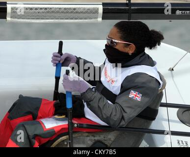 London 2012 Paralympics: Sailing Scud 18 class race Alexandra Rickham of Great Britain 01st September, 2012 PICTURE - Stock Photo