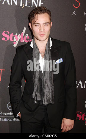 Sept. 5, 2012 - New York, New York, U.S. - Actor ED WESTWICK attends the 9th Annual Style Awards held during the - Stock Photo