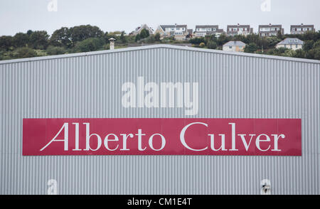 Swansea, UK. 13th September 2012. 13.09.12 The Unilever owned Alberto Culver Factory in Swansea, which is set to - Stock Photo
