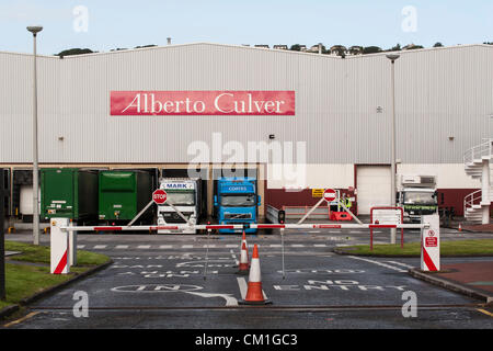 General view of the Alberto Culver factory in Swansea Enterprise park in Wales, UK on Friday 14th September, 2012. - Stock Photo