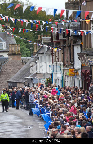 Dunblane, Scotland, UK, Sunday 16th September 2012. The new US Open Tennis Champion Andy Murray returned to Scotland - Stock Photo
