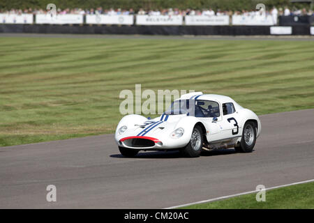 Goodwood Estate, Chichester, UK. 15th September 2012. Derek Hill driving a 1962 Maserati Tipo 151 during the RAC - Stock Photo