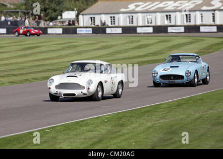 Goodwood Estate, Chichester, UK. 15th September 2012. 1960 Aston Martin DB4GT and Ferrari 250 GTO SWB/C pictured - Stock Photo