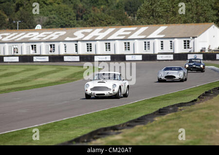Goodwood Estate, Chichester, UK. 15th September 2012. 1960 Aston Martin DB4GT pictured during the RAC TT Celebration. - Stock Photo