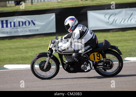 Goodwood Estate, Chichester, UK. 15th September 2012. pictured during the Barry Sheene Memorial. The revival is - Stock Photo