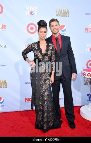 USA. Roselyn Sanchez, Eric Winter at arrivals for NCLR 2012 ALMA Awards, Pasadena Civic Auditorium, Pasadena, CA - Stock Photo