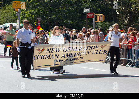New York, NY - September 15, 2012: Impressions from the 2012 German-American Steuben Parade in New York City. The - Stock Photo