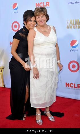 Eva Longoria, Ela Eva Mirales at arrivals for NCLR 2012 ALMA Awards, Pasadena Civic Auditorium, Pasadena, CA September - Stock Photo