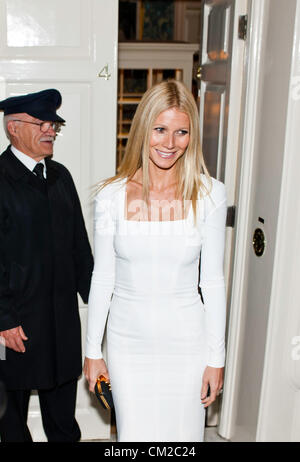 London, UK - 19 September 2012: Gwyneth Paltrow participates at the fundraising dinner in London for President Barack - Stock Photo