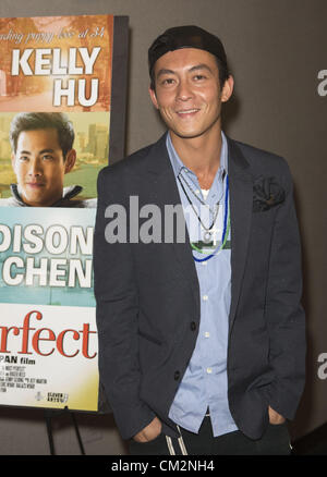 Sept. 21, 2012 - Los Angeles, California (CA, United States - Actor Edison Chen arrives at the opening of Almost - Stock Photo