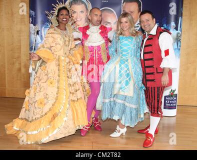 Cast - 'Cinderella' Pantomime Press Launch at Milton Keynes Theatre, Bucks - September 21st 2012  Photo by Keith - Stock Photo