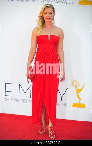 Gretchen Moll arrivals64th Primetime Emmy Awards - ARRIVALS Nokia Theatre L.A LIVE Los Angeles CA September 23 2012 - Stock Photo
