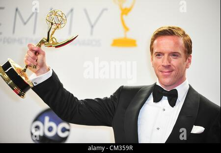 Damian Lewis inpress room64th Primetime Emmy Awards - PRESS ROOM Nokia Theatre L.A LIVE Los Angeles CA September - Stock Photo