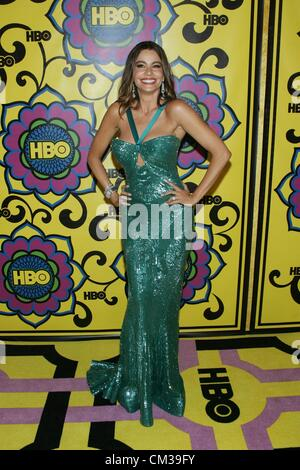 Sofia Vergara arrivals HBO Emmy Awards After PartyPlaza atPacific Design Center Los Angeles CA September 23 2012 - Stock Photo