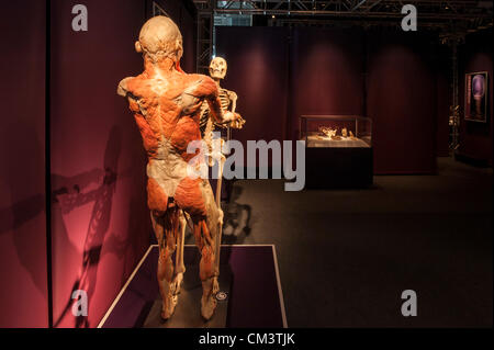 Italy Torino Palaisozaki the exhibition The Human Body Exhibition September 28, 2012 at 12 Am .The exhibition opens - Stock Photo