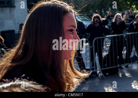 Newcastle, UK. 10th October 2012. The Duchess of Cambridge is seen visting Elswick Park. She was informed that it - Stock Photo