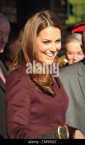 The Duchess of Cambridge visiting  Elswick Park in Newcastle on Wednesday 10th October2012 - Stock Photo