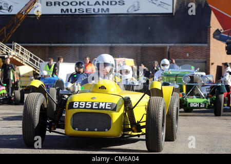October 14, 2012 -  A range of cars including Formula 1, F5000, GTs and touring cars and Group B rally cars were - Stock Photo