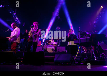 London, UK - 18 October 2012: Hot Chip perform live at O2 Academy Brixton following the release of their new album - Stock Photo