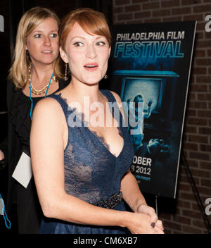 Oct. 18, 2012 - Philadelphia, Pennsylvania, U.S - BREA BEE arrives for the Philadelphia Film Festival screening - Stock Photo