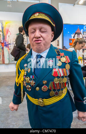 Paris, France,  Art Galleries, International COntemporary Arts Fair, FIAC , Soviet Era Military Sculpture, - Stock Photo