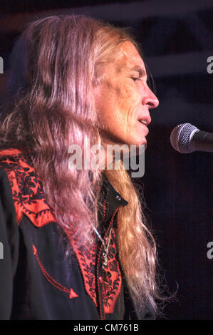 LINCOLN, CA – October 19: Billy Crain of Country rock band The Outlaws perform at Thunder Valley Casino Resort in - Stock Photo
