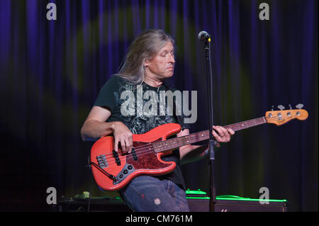 LINCOLN, CA – October 19: Randy Threet of Country rock band The Outlaws perform at Thunder Valley Casino Resort - Stock Photo